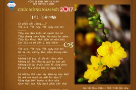 Công ty Môi Trường Á Châu thông báo lịch nghỉ Tết Nguyên Đán 2017