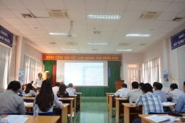 Môi Trường Á Châu trình bày tham luận về nước thải trong hội thảo ngày Nước Thế Giới tại An Giang