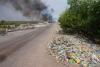 Đức Hòa lại xuất hiện tình trạng đổ trộm rác công nghiệp tràn lan trên đường