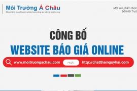 Môi Trường Á Châu - Công bố website báo giá chất thải online (phiên bản 2020)