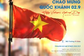 Thông báo lịch nghỉ Lễ Quốc khánh 02/9 - Notice for Vietnam's National Day